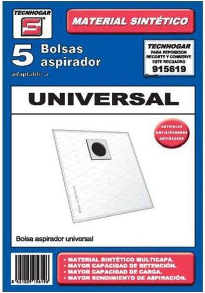 Buy universal Replacement Bag for Vacuum Cleaner Tecnhogar 915619 (5 uds)